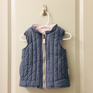 Chambray and Baby Pink Vest